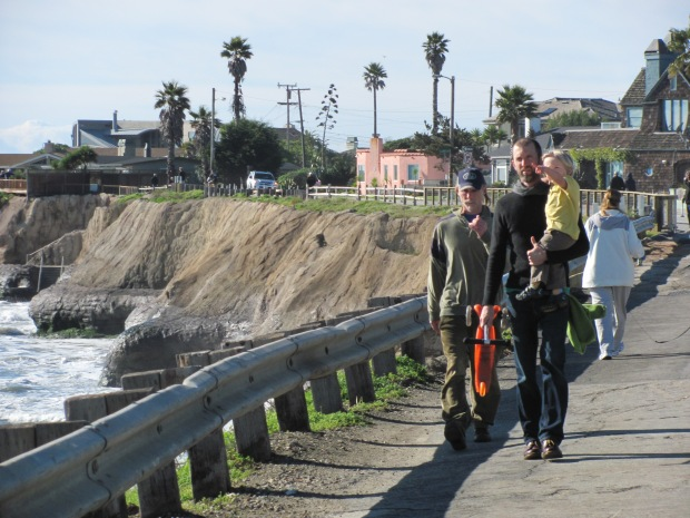 A pedestrian path along East Cliff Drive, Santa Cruz. Photo by Jill Kimball