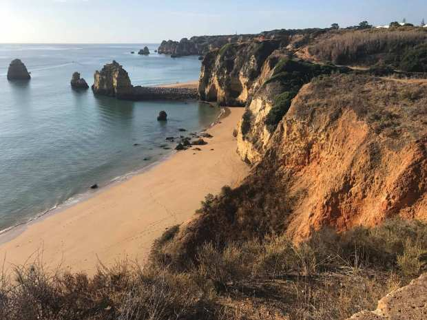 Sandstone cliffs of Lagos, Portugal