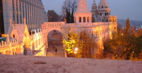Fisherman's Bastion at night Budapest Hungary