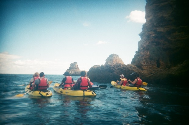Kayaking in Lagos, Portugal