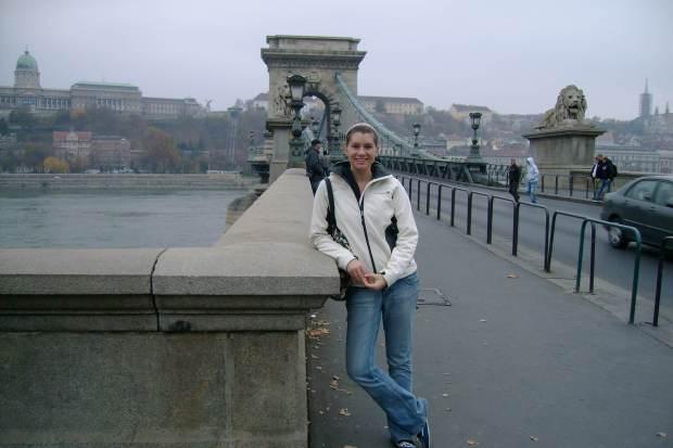 Budapest Hungary Chain Bridge