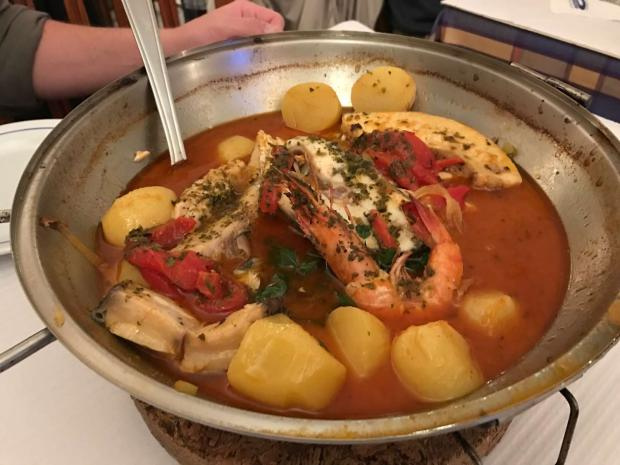 Cataplana at a restaurant in Cabanas, Algarve, Italy. Photo by Jill Kimball