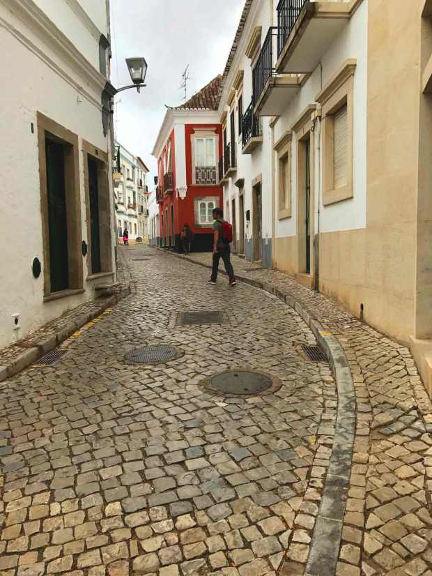 Street in the town of Tavira, Algarve, Portugal. Photo by Jill Kimball
