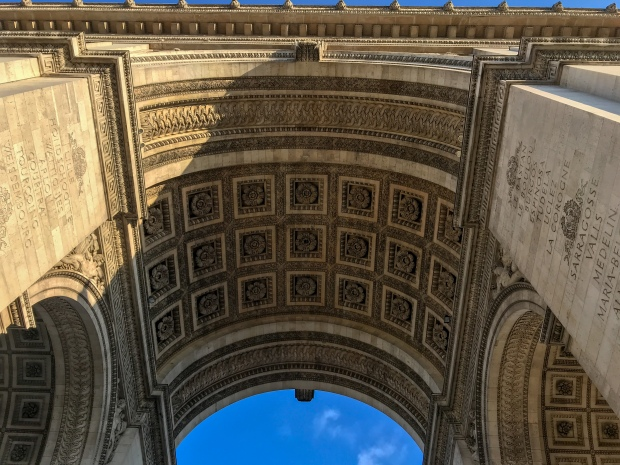 Arc de Triomphe in the evening, Paris, photo by Jill Kimball