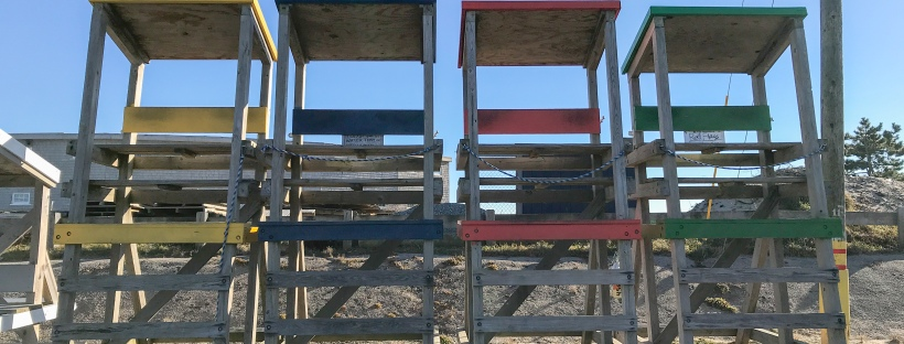 Lifeguard posts at Bonnet Shores, Narragansett